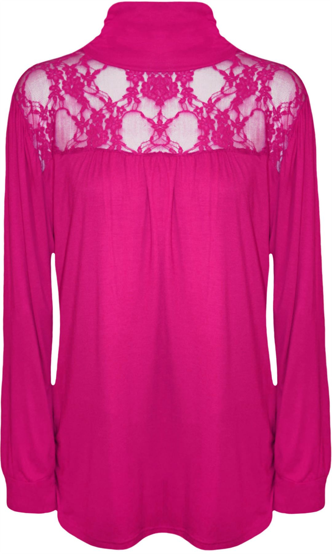 c0e08788d71 Womens Ladies Polo Neck Lace Turtle Long Sleeve Stretch Plus Size Tops  Dress Cerise UK 14. About this product. Picture 1 of 2  Picture 2 of 2
