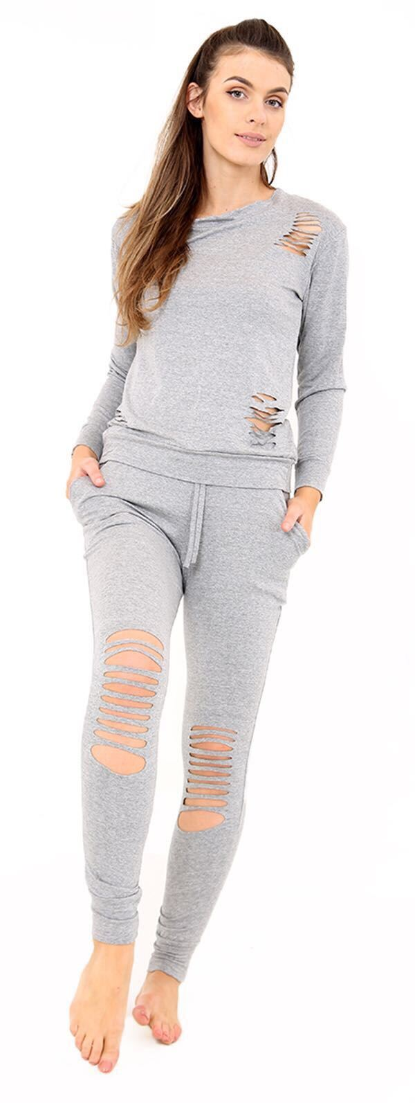 Women-Ripped-Lounge-wear-Women-Distressed-Tracksuit-Outfit-