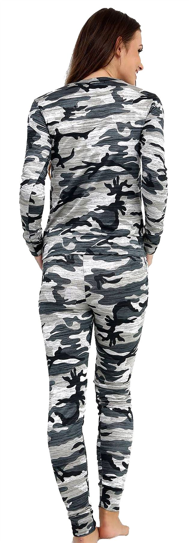 ecb1f9d8be7 Womens Camouflage Leopard Print Loungewear Army Tracksuit Ladies ...