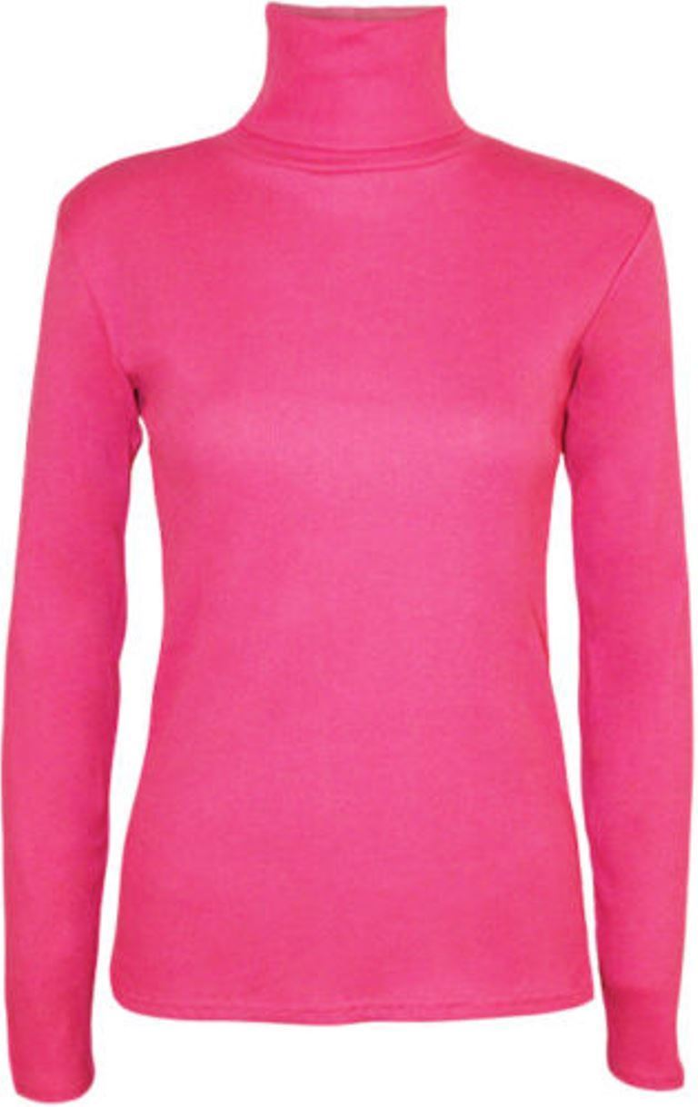 Ladies-Plain-Full-Sleeve-Polo-Roll-Neck-Jumper-Top-Womens-Turtle-Neck-Jumper thumbnail 5