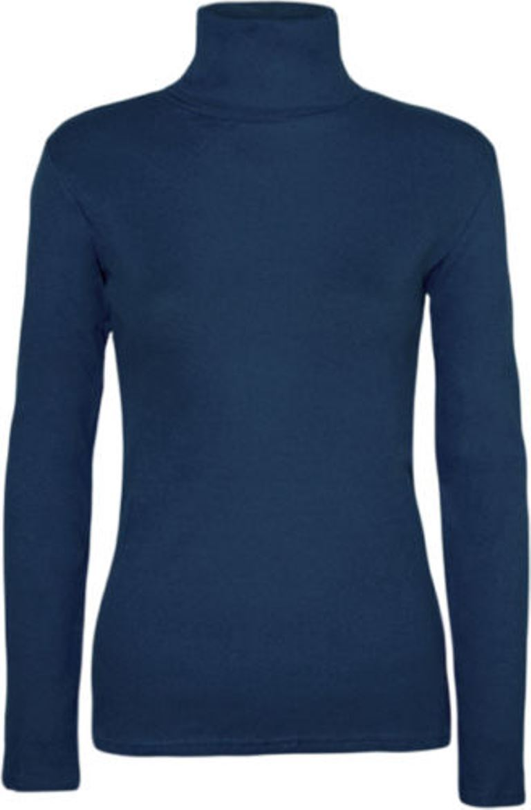 Ladies-Plain-Full-Sleeve-Polo-Roll-Neck-Jumper-Top-Womens-Turtle-Neck-Jumper thumbnail 20
