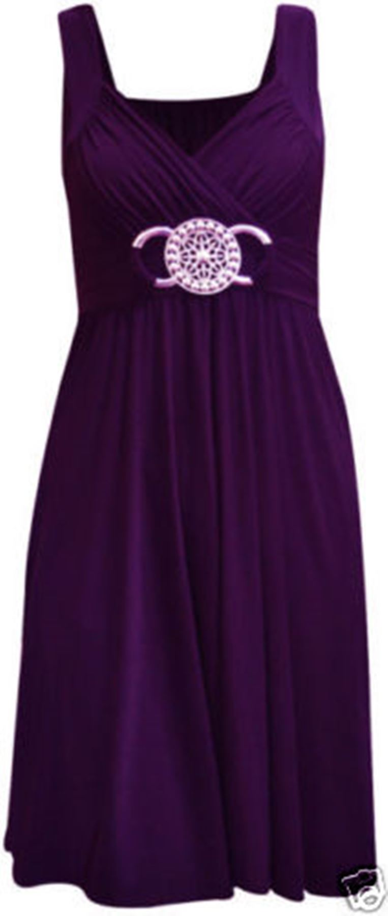 New-Ladies-Womens-Short-Buckle-Evening-Midi-Bridesmaid-Dress-Plus-Size-8-26