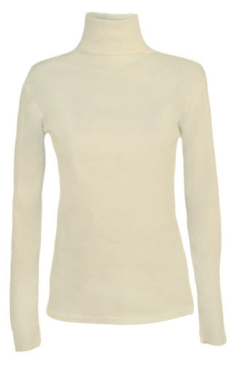 Ladies-Plain-Full-Sleeve-Polo-Roll-Neck-Jumper-Top-Womens-Turtle-Neck-Jumper thumbnail 22