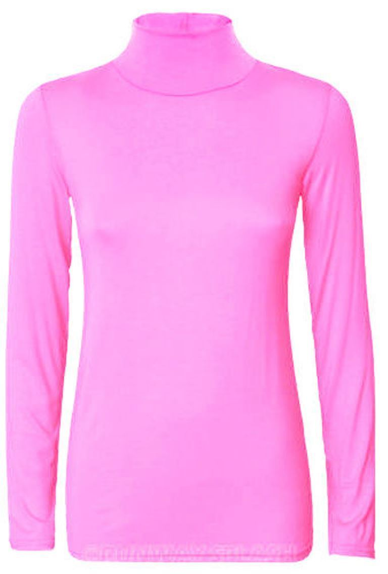 Ladies-Plain-Full-Sleeve-Polo-Roll-Neck-Jumper-Top-Womens-Turtle-Neck-Jumper thumbnail 4