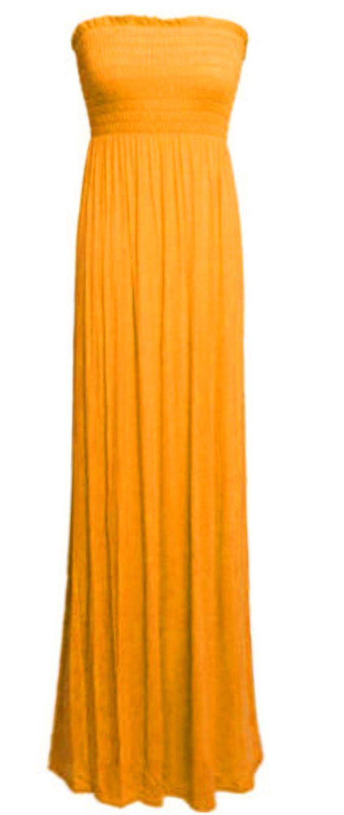 New-Womens-Sleeveless-Boobtube-Bandeau-Maxi-Ladies-Sheering-Long-Dress-Size-8-26 thumbnail 24