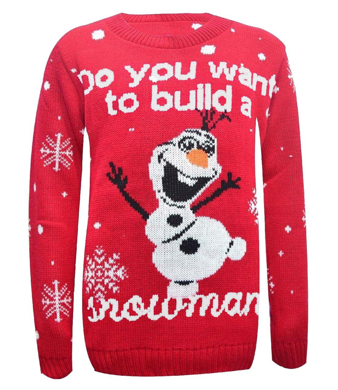 Womens-Long-Sleeve-Snowflake-Knitted-Christmas-Jumper-Kids-Unisex-Winter-Sweater thumbnail 4
