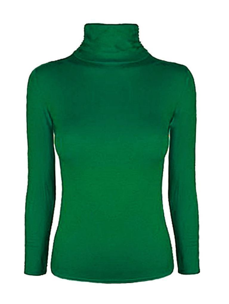 Ladies-Plain-Full-Sleeve-Polo-Roll-Neck-Jumper-Top-Womens-Turtle-Neck-Jumper thumbnail 10
