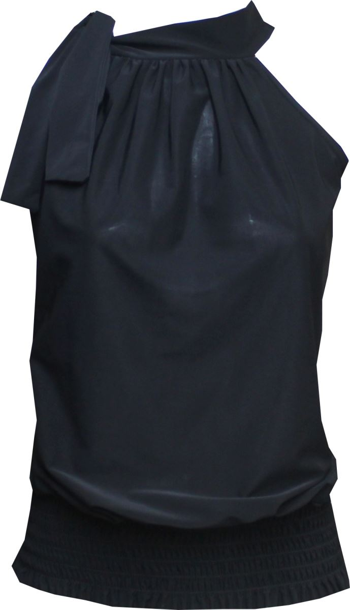 new womens ladies plus size draped ruched halter neck bow tie