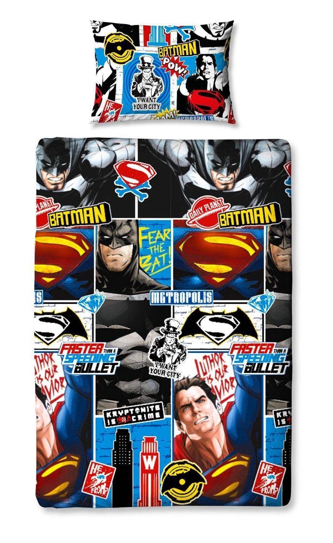 Batman-vs-Superman-Clash-Childrens-Comic-heros-reversible-design-Lit-Simple-Ensemble