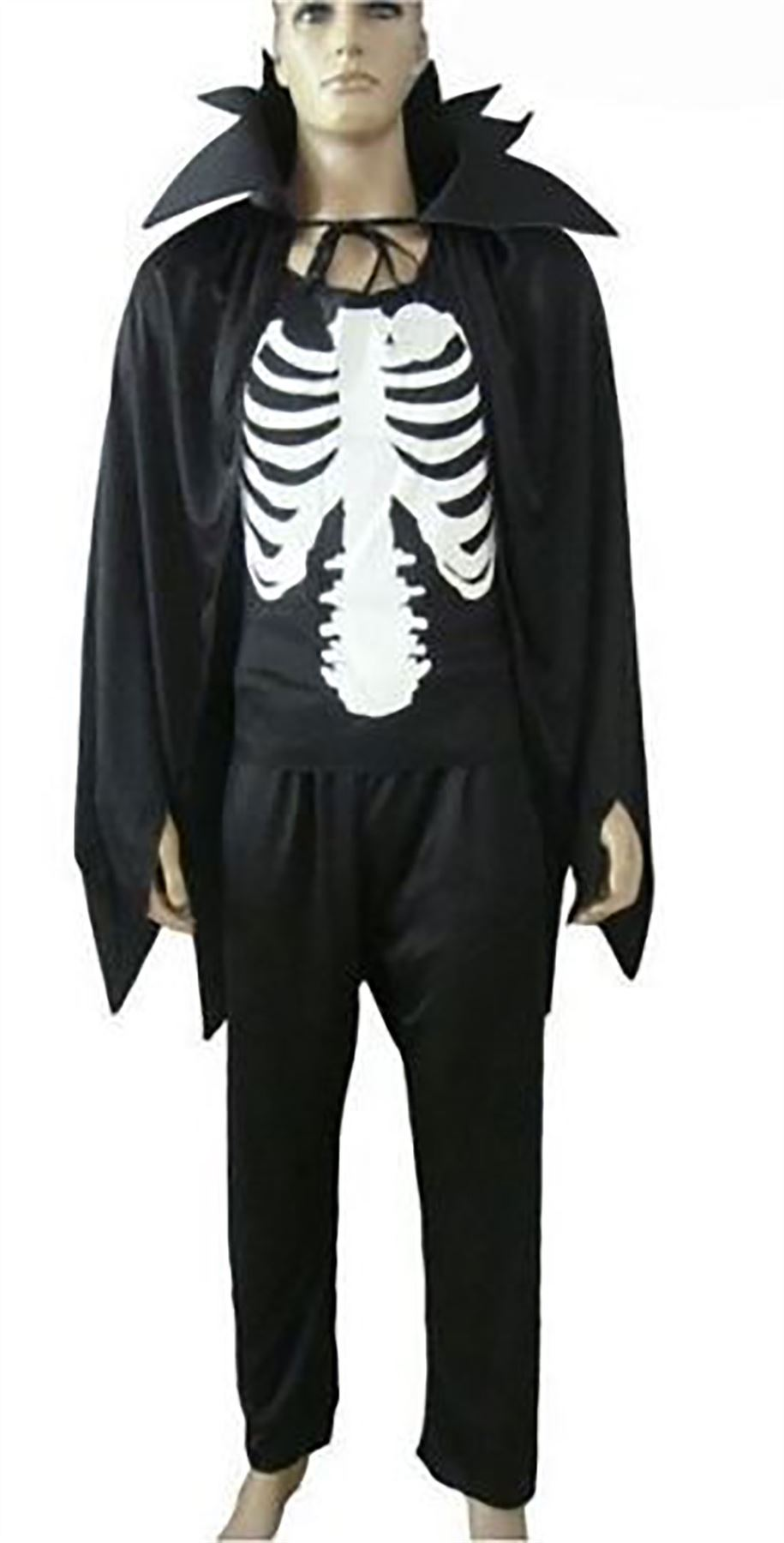 womens adults skeleton cape halloween fancy dress ladies vampire