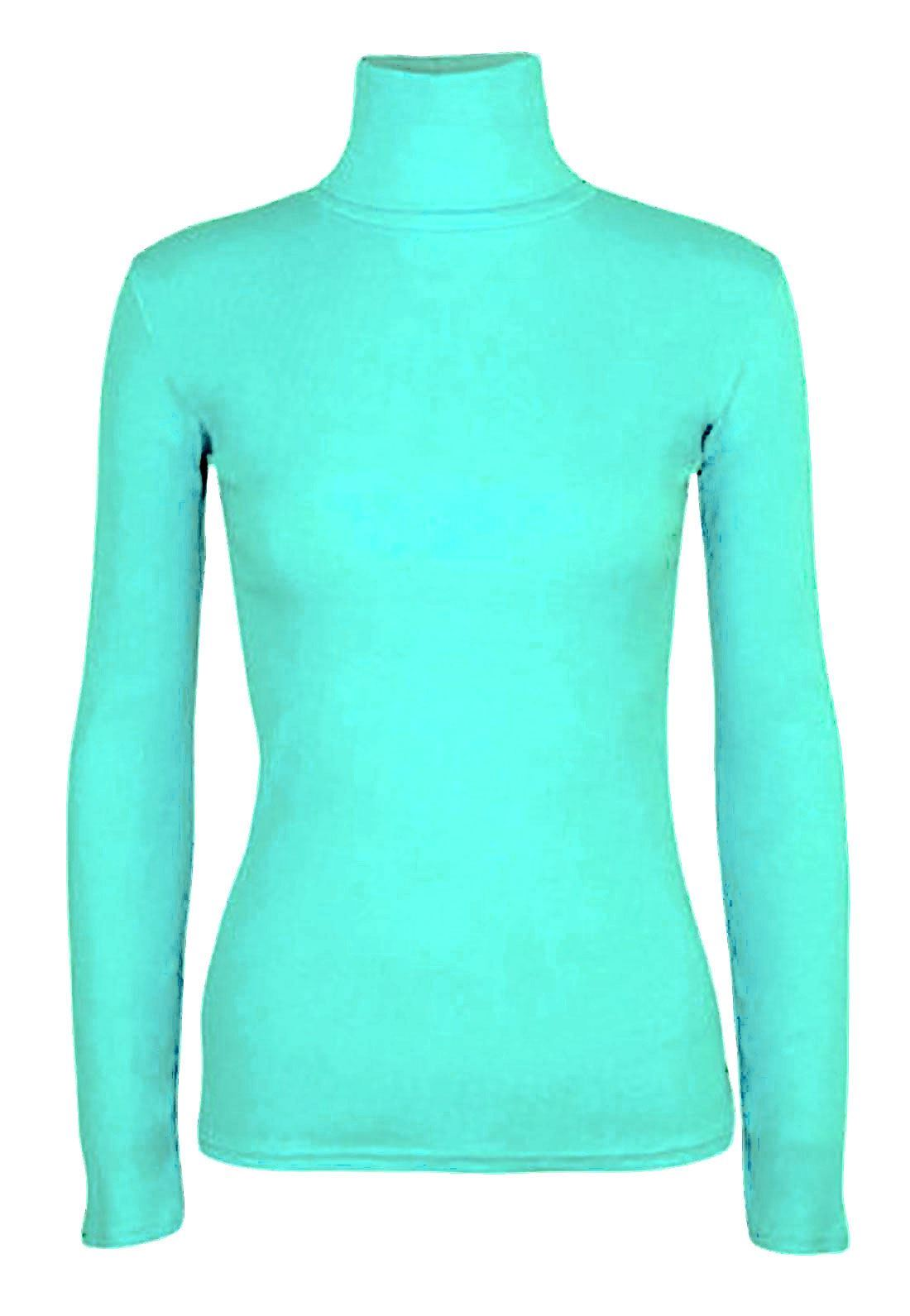 Ladies-Plain-Full-Sleeve-Polo-Roll-Neck-Jumper-Top-Womens-Turtle-Neck-Jumper thumbnail 24
