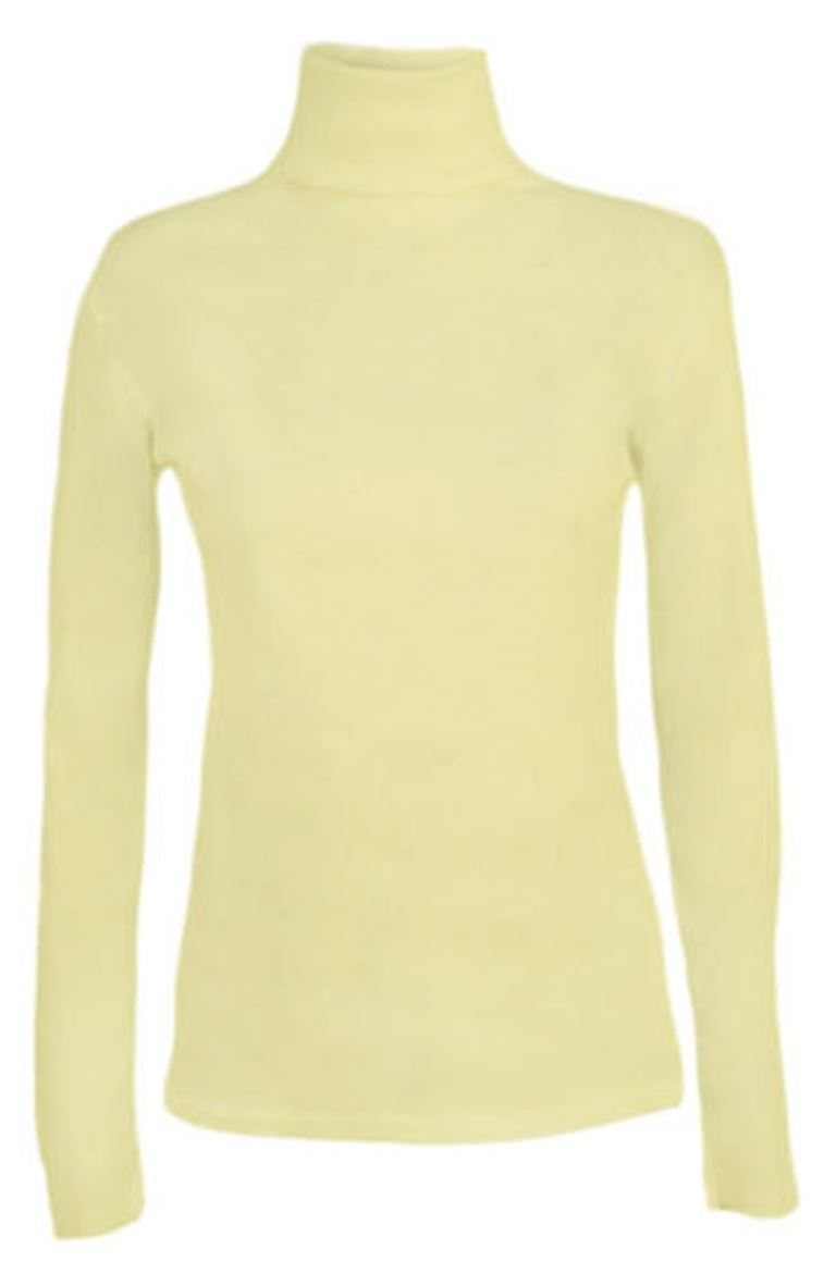 Ladies-Plain-Full-Sleeve-Polo-Roll-Neck-Jumper-Top-Womens-Turtle-Neck-Jumper thumbnail 8