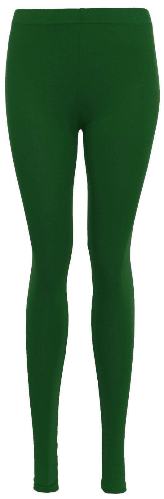 Linea-donna-legging-donna-Tinta-Unita-Elastico-Viscosa-piena-lunghezza-legging-PLUS-SIZE-8-14