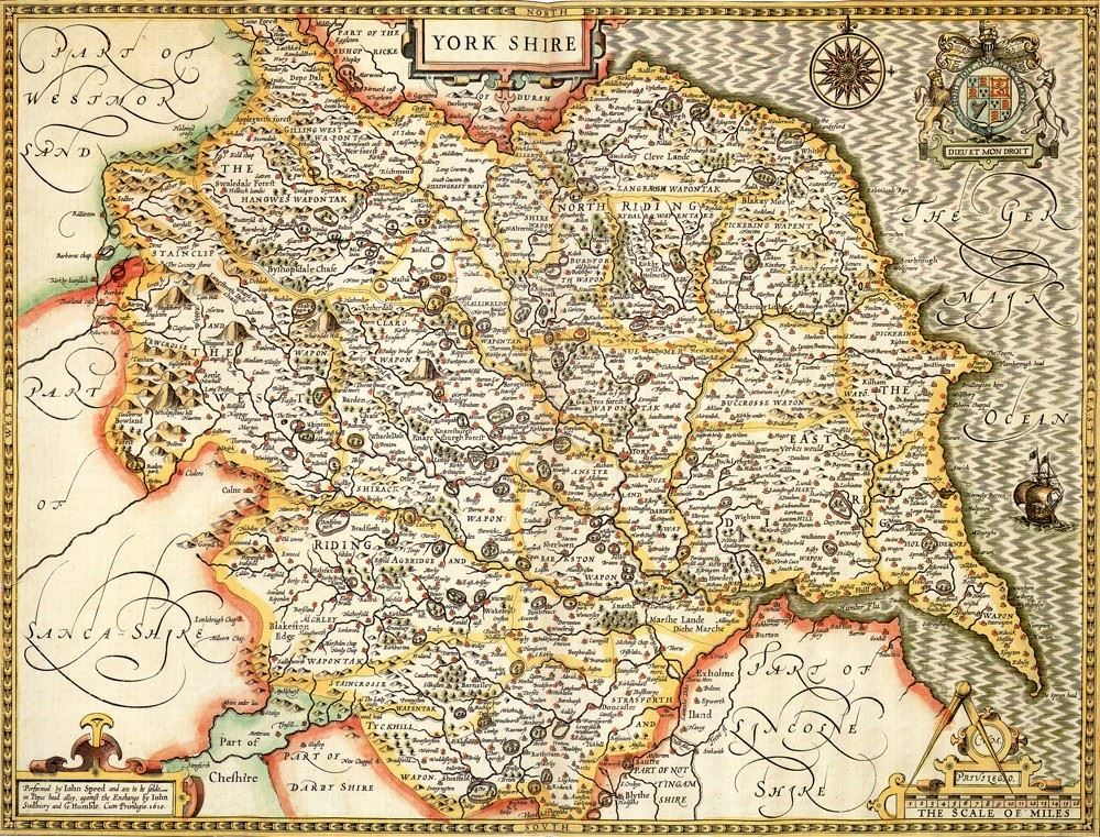 Yorkshire historical map 1000 piece jigsaw puzzle 1610 john yorkshire historical map 1000 piece jigsaw puzzle 1610 john speed gumiabroncs Choice Image