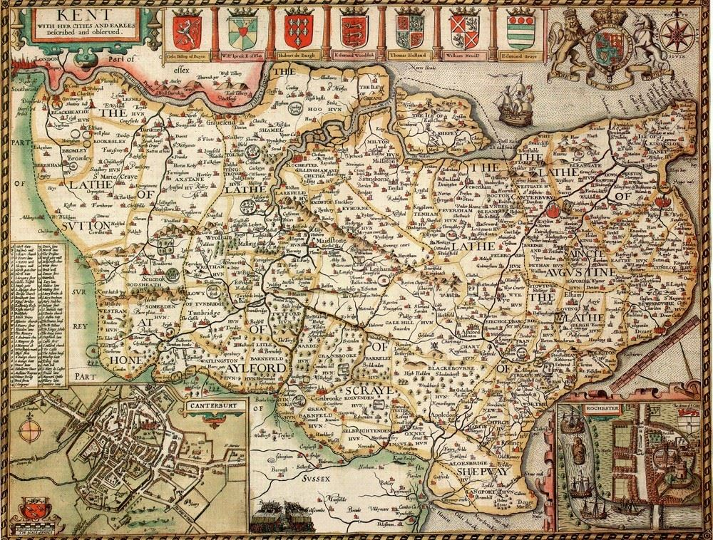 Kent historical map 1000 piece jigsaw puzzle 1610 john speed kent historical map 1000 piece jigsaw puzzle 1610 john speed gumiabroncs Choice Image