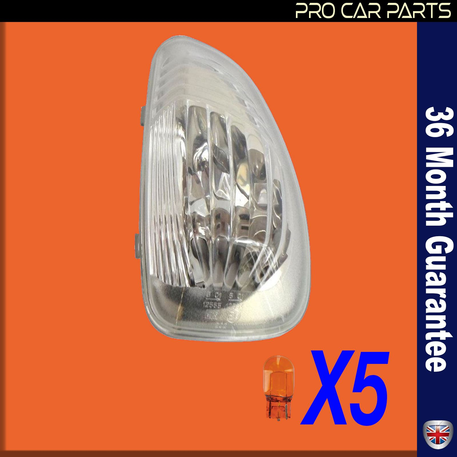 Renault Master MK3 wing mirror light side indicator lens clear right side