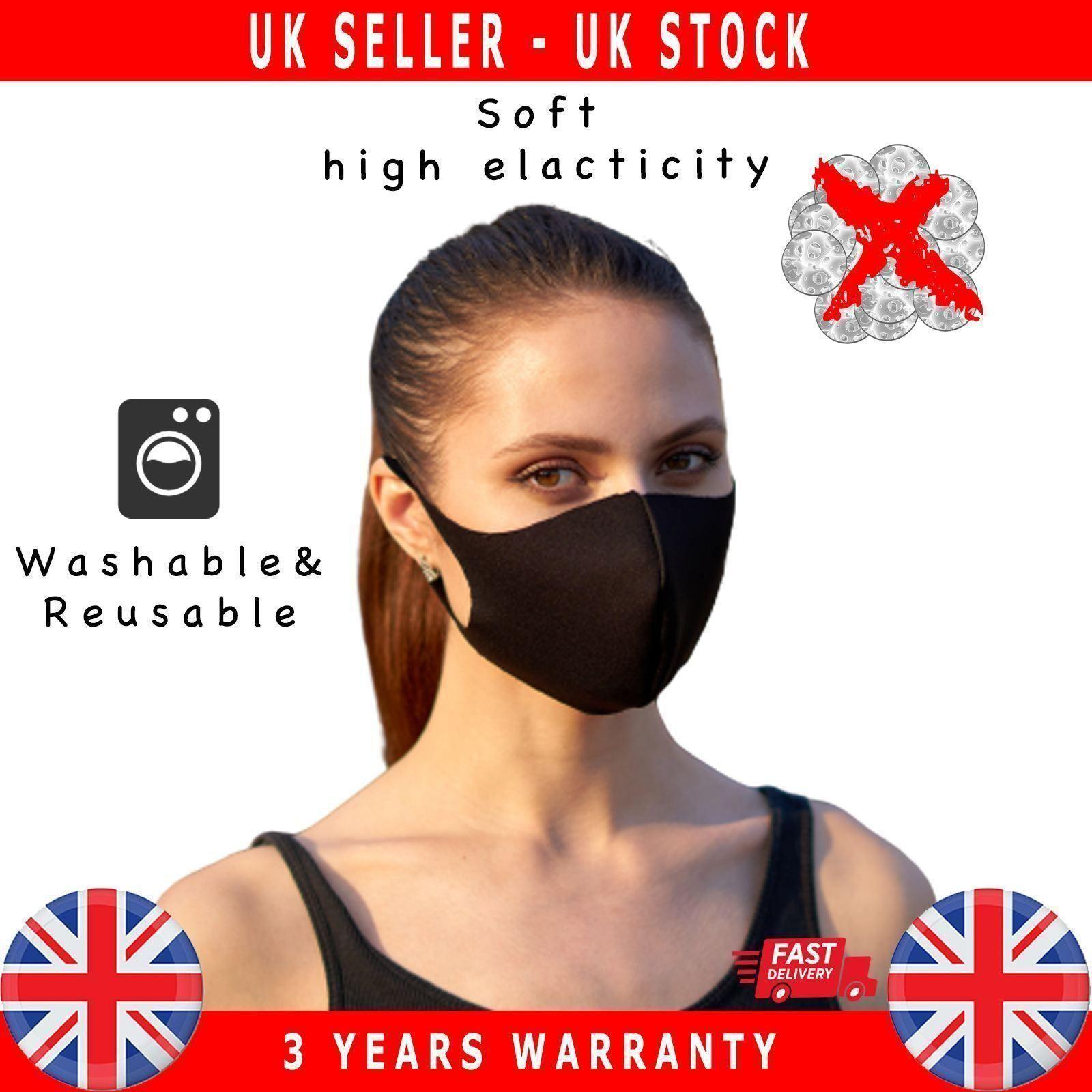 Reusable-Face-Mask-Mouth-Nose-Breathable-Washable-Antibacteriel thumbnail 2