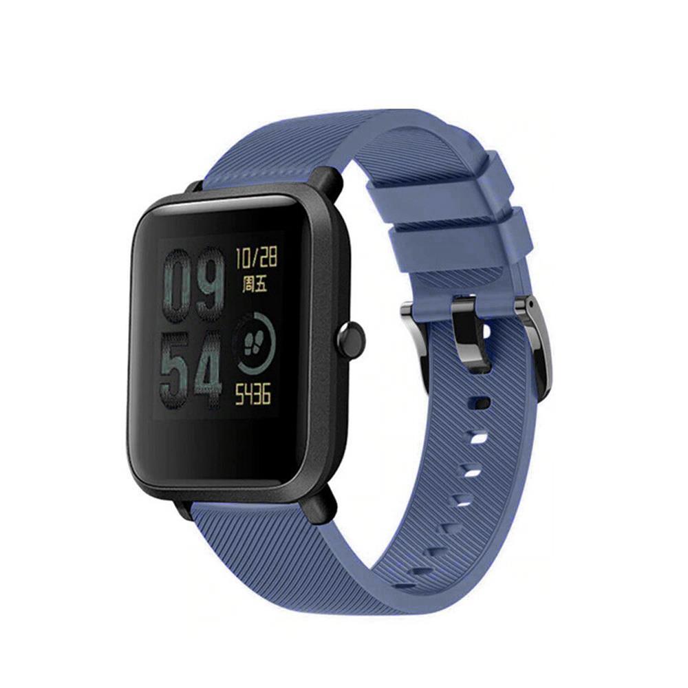 Correa-pulsera-de-silicona-recambio-para-Xiaomi-Amazfit-Bip-GTS-Stratos-y-Pace miniatura 8