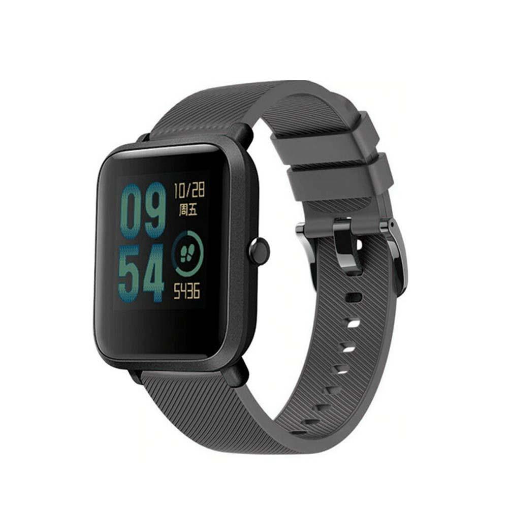 Correa-pulsera-de-silicona-recambio-para-Xiaomi-Amazfit-Bip-GTS-Stratos-y-Pace miniatura 20