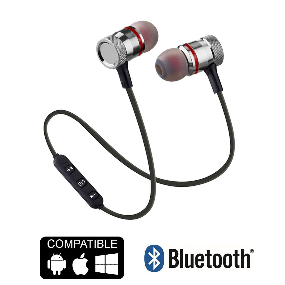 Auriculares-Bluetooth-4-1-Inalambricos-Magnetico-Microfono-Cascos-Deportivos miniatura 6