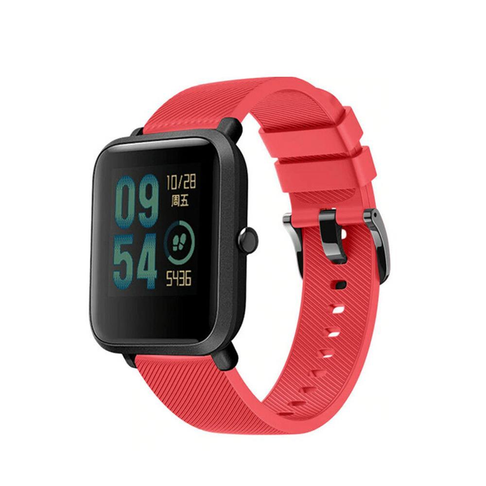 Correa-pulsera-de-silicona-recambio-para-Xiaomi-Amazfit-Bip-GTS-Stratos-y-Pace miniatura 23