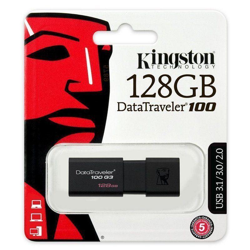 Pendrive-memoria-USB-3-0-Kingston-DT100-G3-16-32-64-128GB-Unidad-Flash-Drive miniatura 9