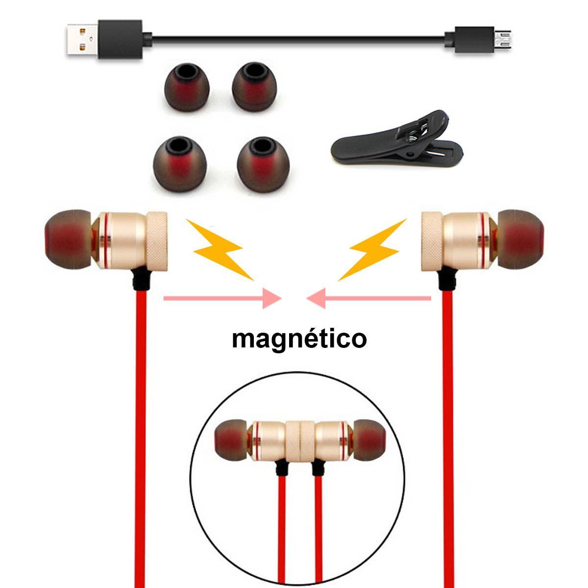 CASCOS-AURICULARES-MAGNETICOS-DEPORTIVOS-BLUETOOTH-INALAMBRICOS-RUNNING-DEPORTES miniatura 4