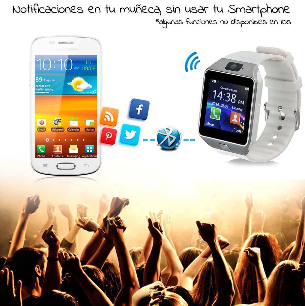 Reloj-Inteligente-DZ09-Bluetooth-SmartWatch-con-telefono-para-Samsung-LG-colores