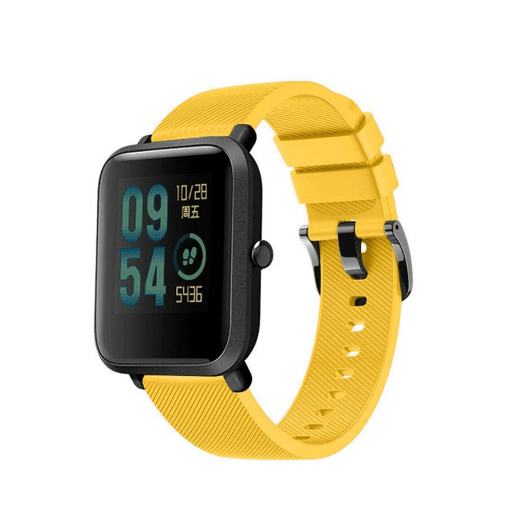 Correa-pulsera-de-silicona-recambio-para-Xiaomi-Amazfit-Bip-GTS-Stratos-y-Pace miniatura 4