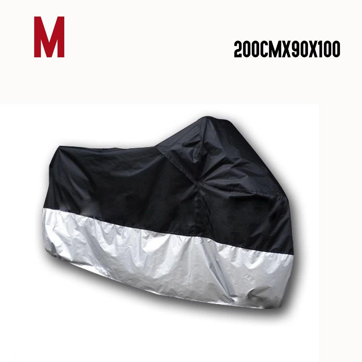 Funda-Impermeable-Protectora-Cubre-Moto-Cosida-Muy-Resistente-Tallas-M-XXL miniatura 3