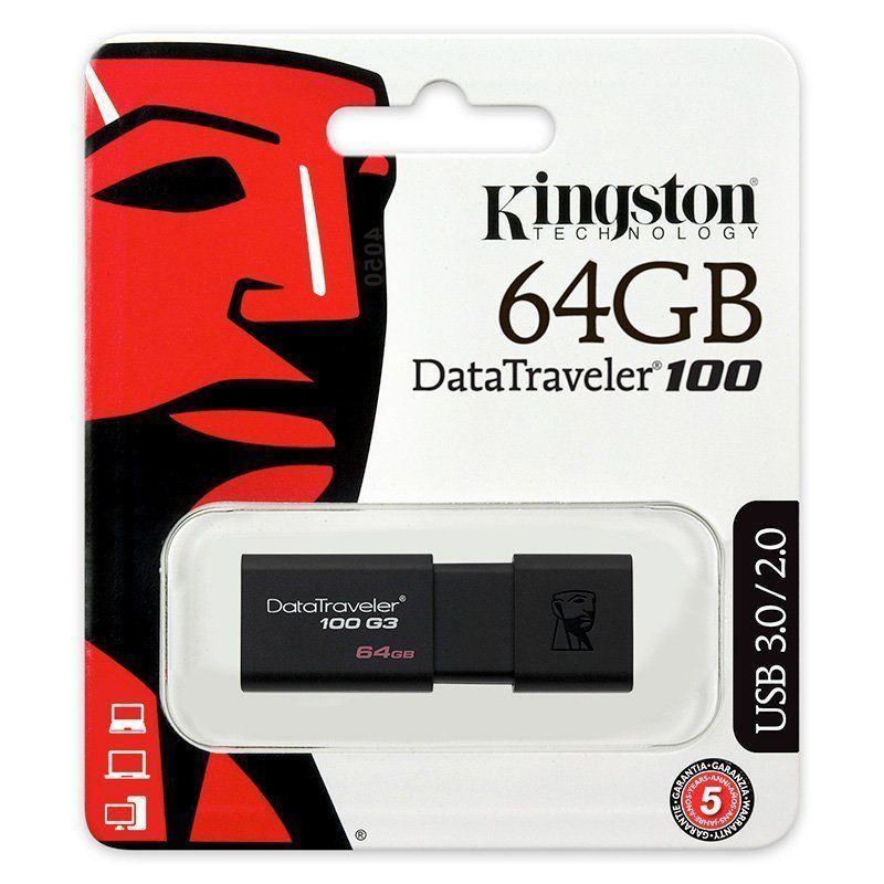 Pendrive-memoria-USB-3-0-Kingston-DT100-G3-16-32-64-128GB-Unidad-Flash-Drive miniatura 7