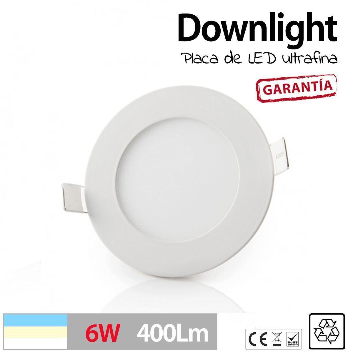 Downlight-LED-SLIM-Redondo-Extraplano-6W-para-Interior-Luz-Techo-plafon-LED