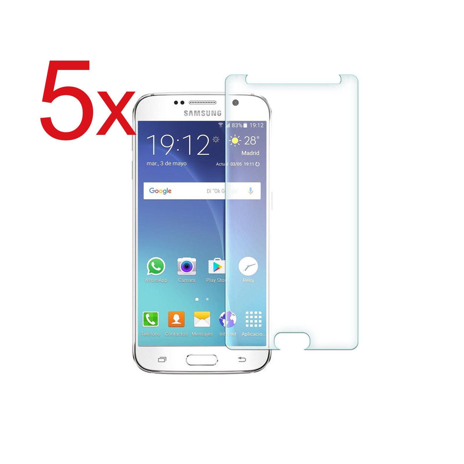5x-Protector-Cristal-Templado-Para-Samsung-Galaxy-S3-S3-Mini-S5-S6-S7