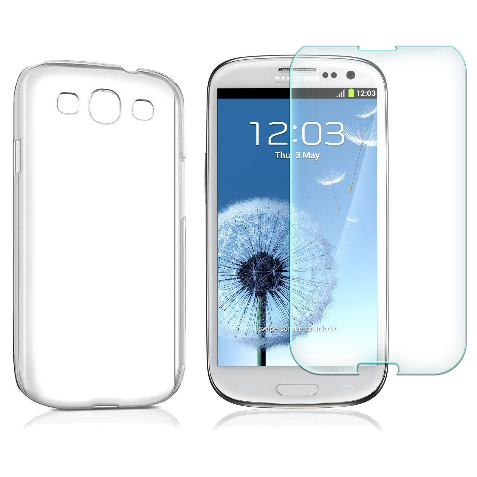 Cristal-Templado-Funda-Silicona-Para-Samsung-Galaxy-A3-A5-Note-4-S3-S5-S6-Edge