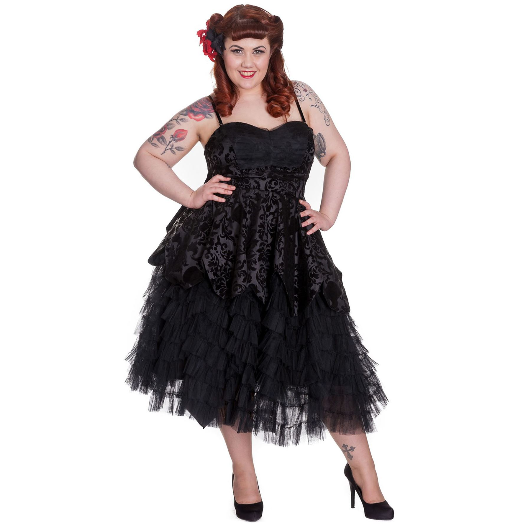 Hell Bunny Lavintage Dress Gothic Victorian Style Prom Dress Plus