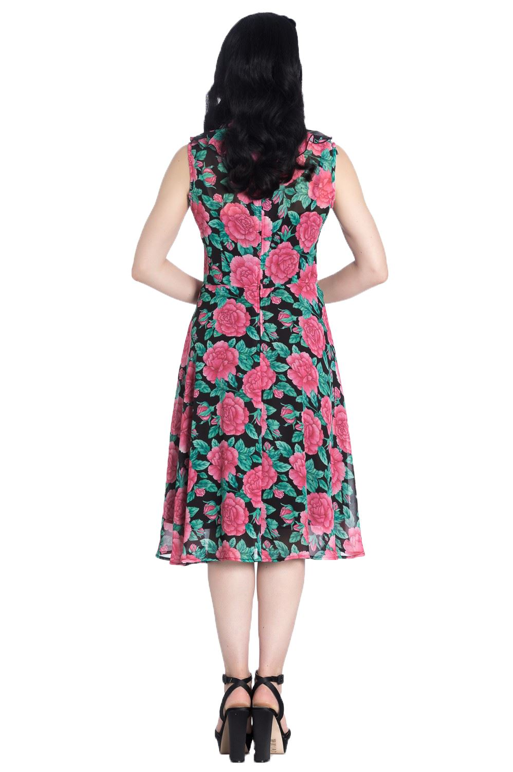 Hell Bunny Eden Rose Floral Duel Layer Dress REDUCED TO CLEAR RRP £51.99