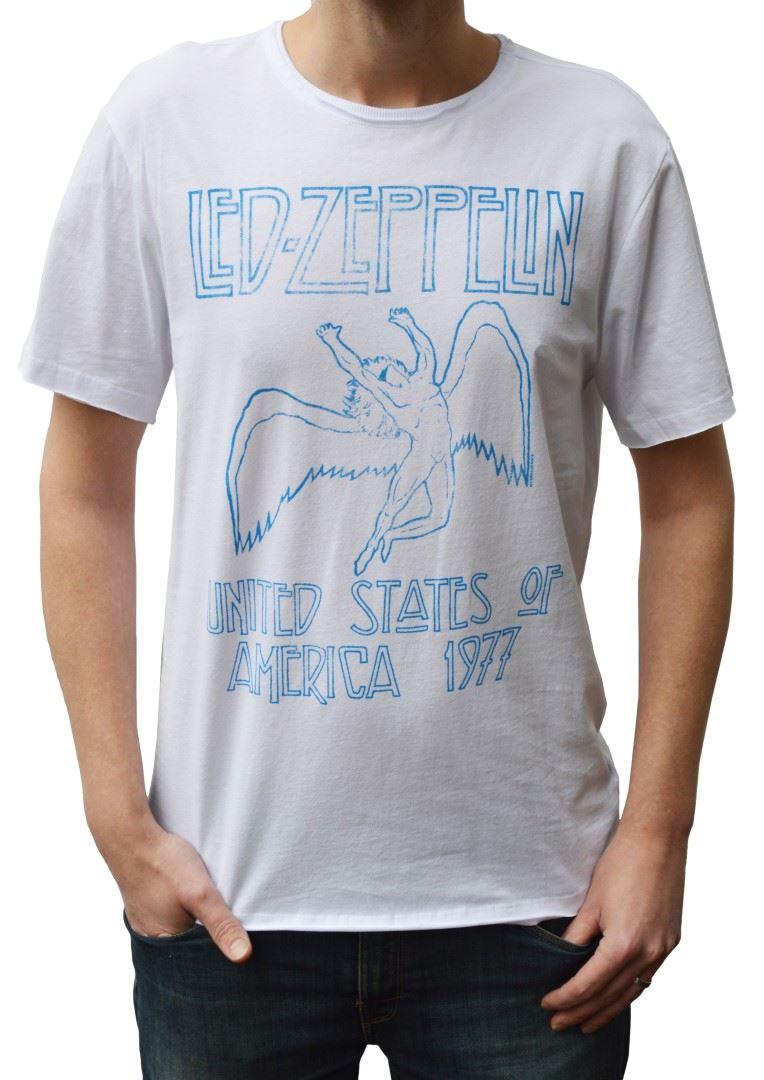 Amplified DEL Zeppelin Tour'77 USA Tour'77 Zeppelin T-shirt à encolure ras-du-cou b48baf
