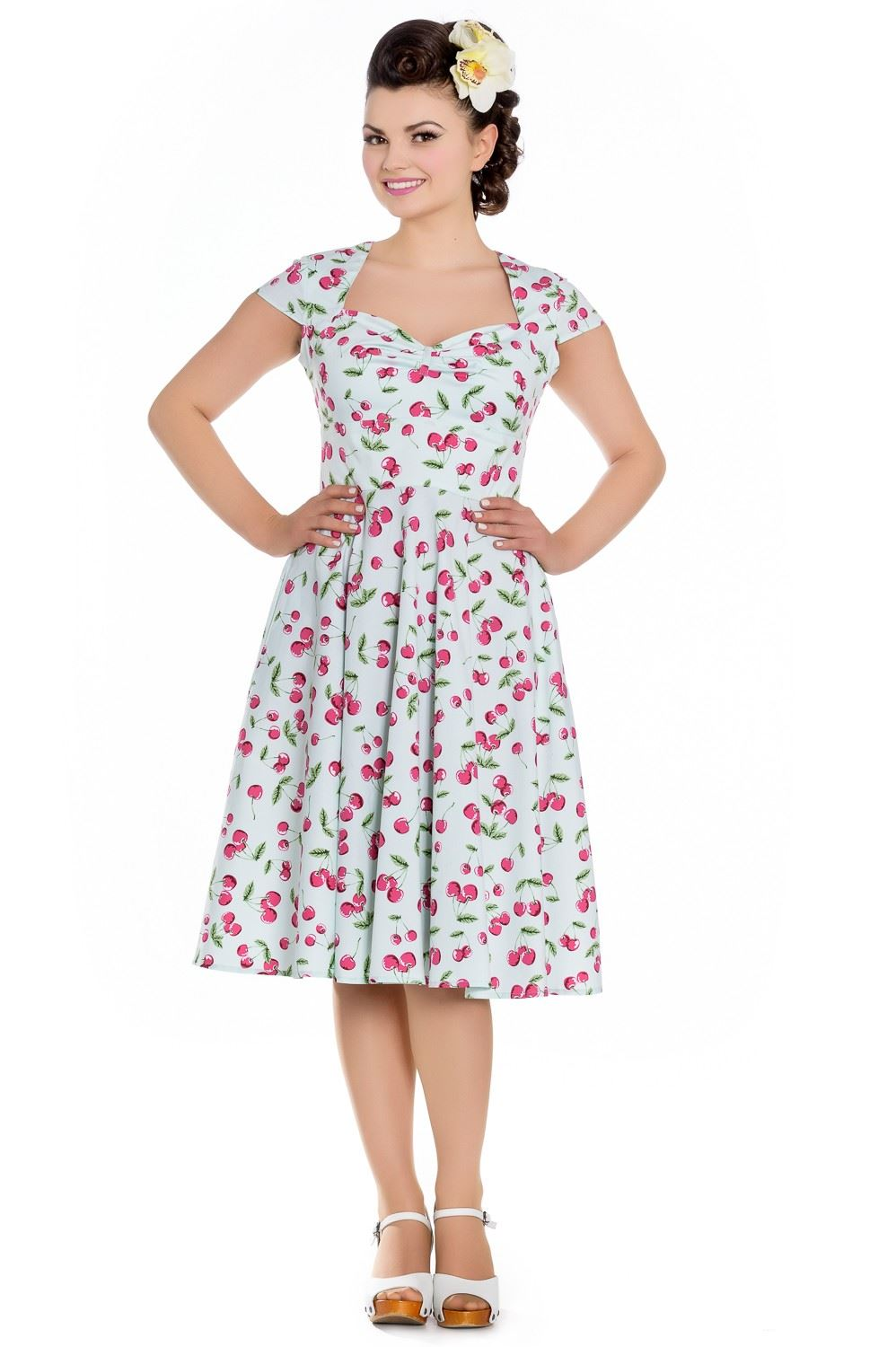 Hell-Bunny-avril-Annees-50-Vintage-Swing-Pin-Up-CHERRY-Robe-Plus-Taille-XS-4XL
