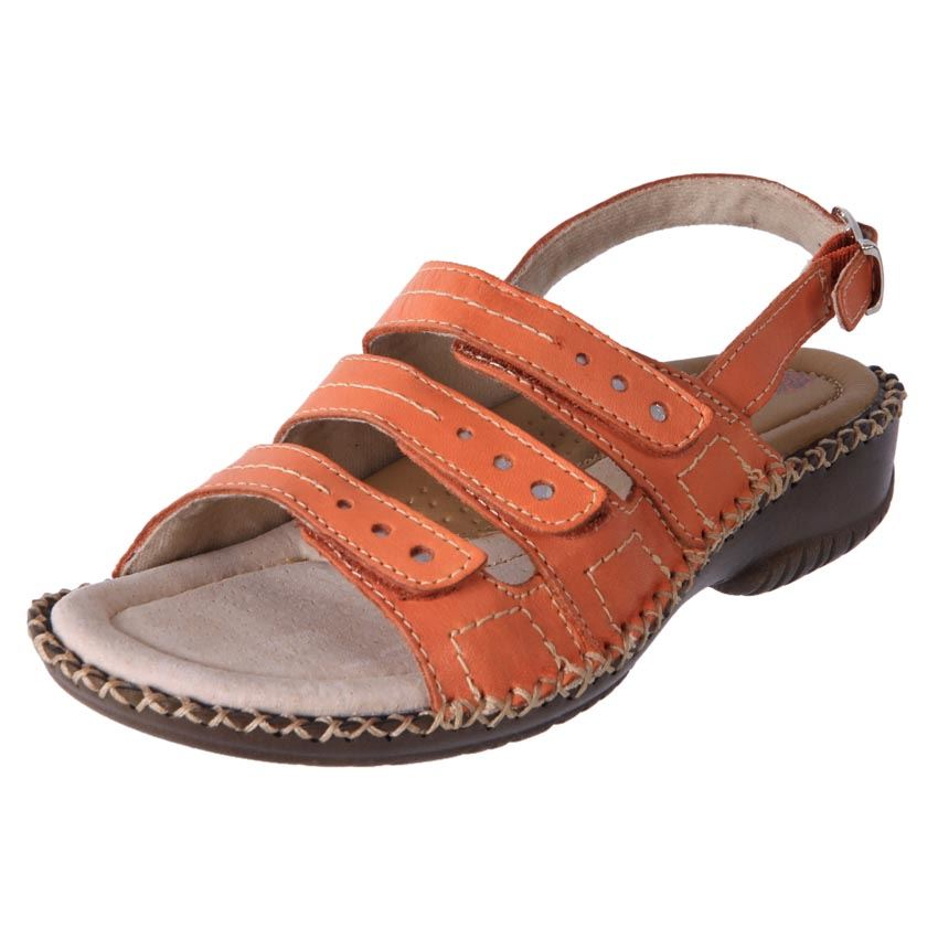 New-Planet-Shoes-Women-039-s-Leather-Comfort-Wedge-Adjustable-Sandal-Lovey-Cheap