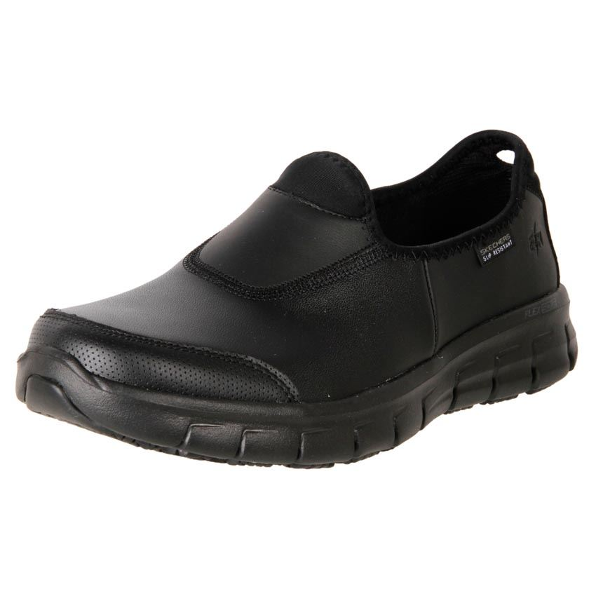 Dc Leather Slip On Shoes