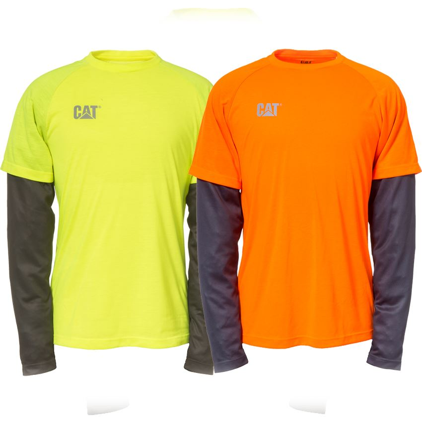 9da8feeb6ced New Caterpillar Men's Hi Vis Long Sleeve Work Safety Expedition Tee ...