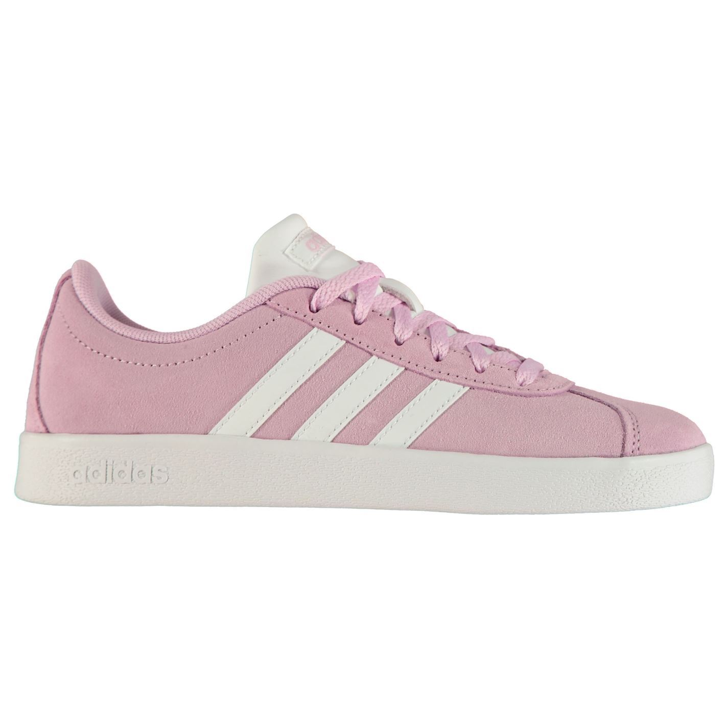 b83142318a6 adidas VL Court Suede Shoes Child Girls Trainers Footwear