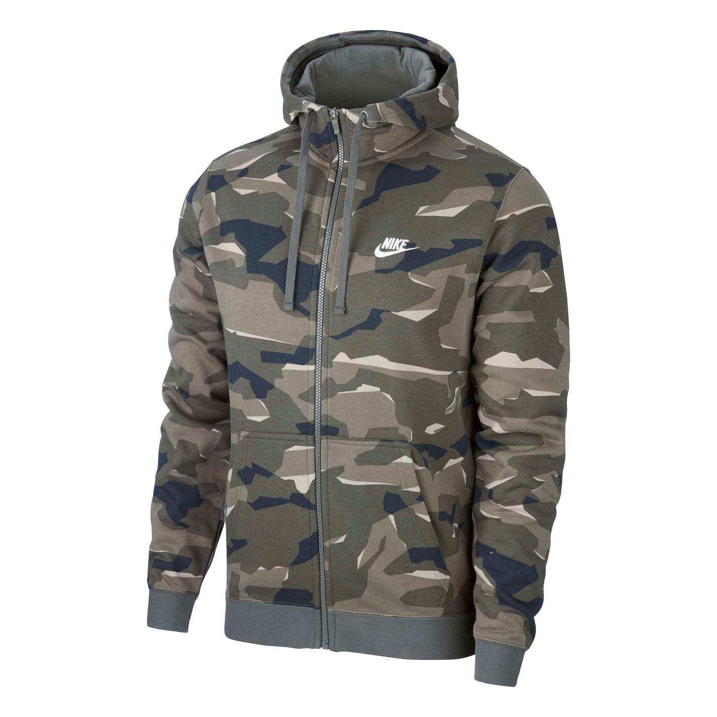 6a4d6617c4f7 ... Nike Camouflage Full Zip Hoody veste Mens Hoodie sweat-shirt chandail à  capuchon Top