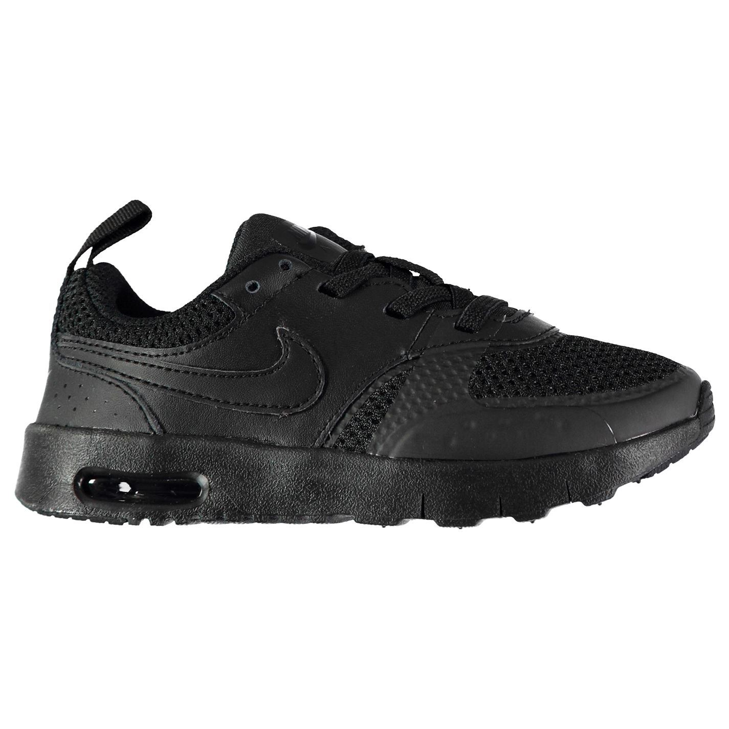9c491b66598 ... Nike Air Max Vision Trainers Infant Boys Black Shoes Footwear ...
