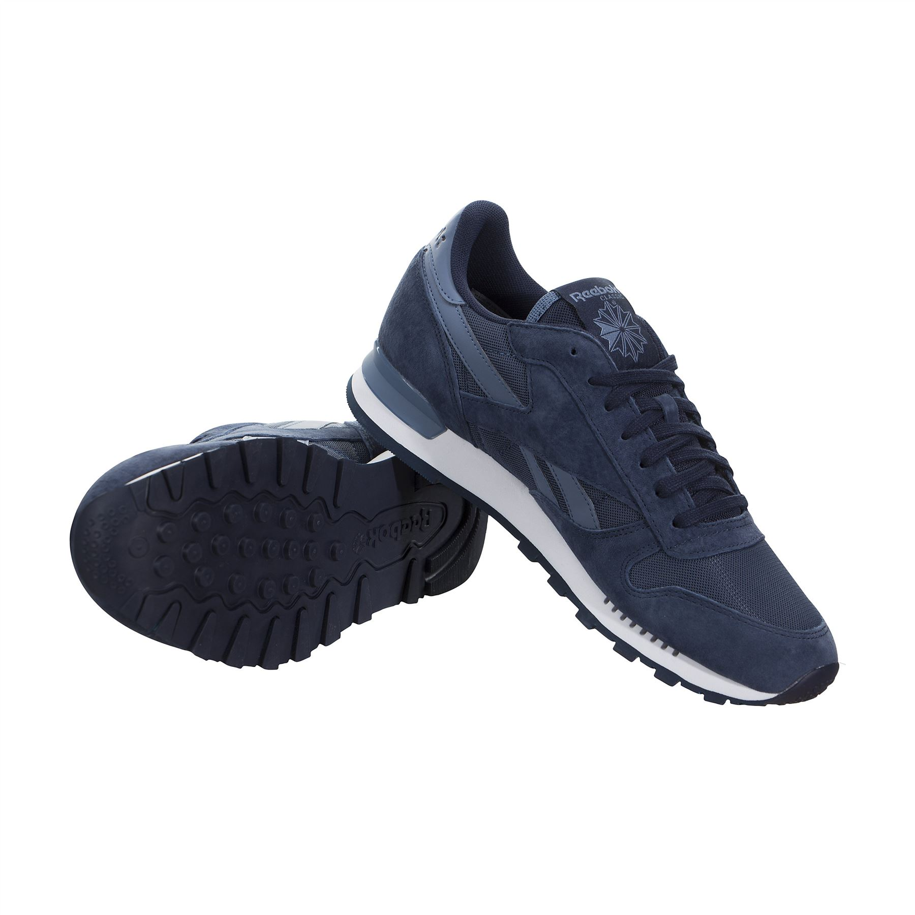 d8b8ecc6ff2 ... Reebok Classic Leather Clip Elements Trainers Mens Sneakers Shoes  Footwear