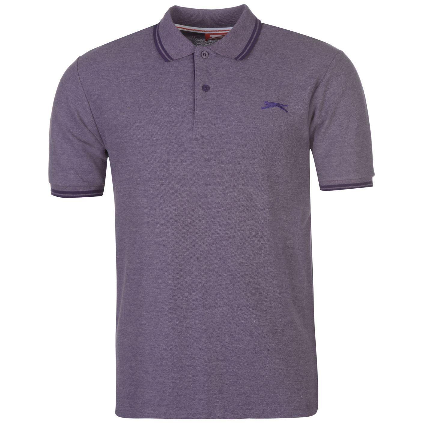 Slazenger-Polo-Camisa-de-hombre-con-cuello-con-Punta-T-Shirt-Top-Camiseta-Tee miniatura 92