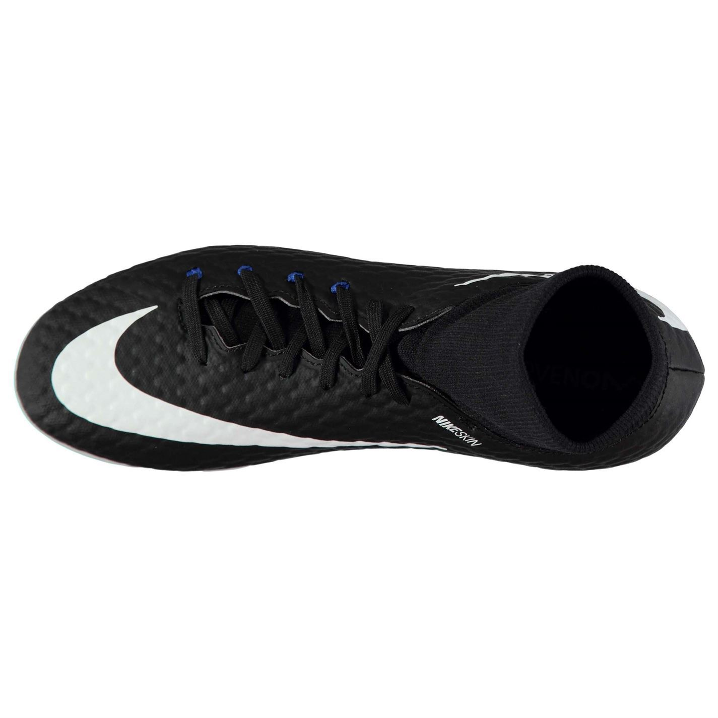 reputable site ffa1b 0f951 ... Nike HyperPhelnDF FG Firm Ground Juniors Black White Royal Soccer Shoes