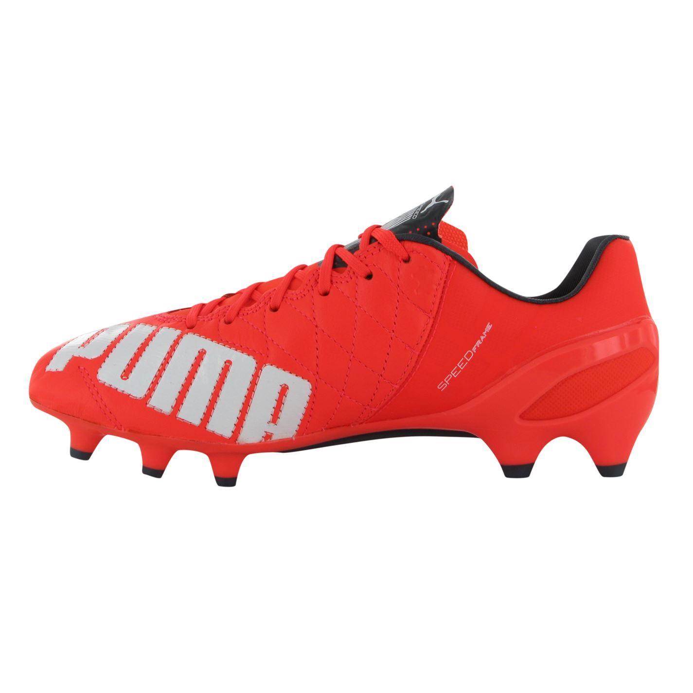 ... Puma evoSpeed 1 Leather FG Firm Ground Football Boots Mens Lava Soccer  Cleats 9d3b527b3