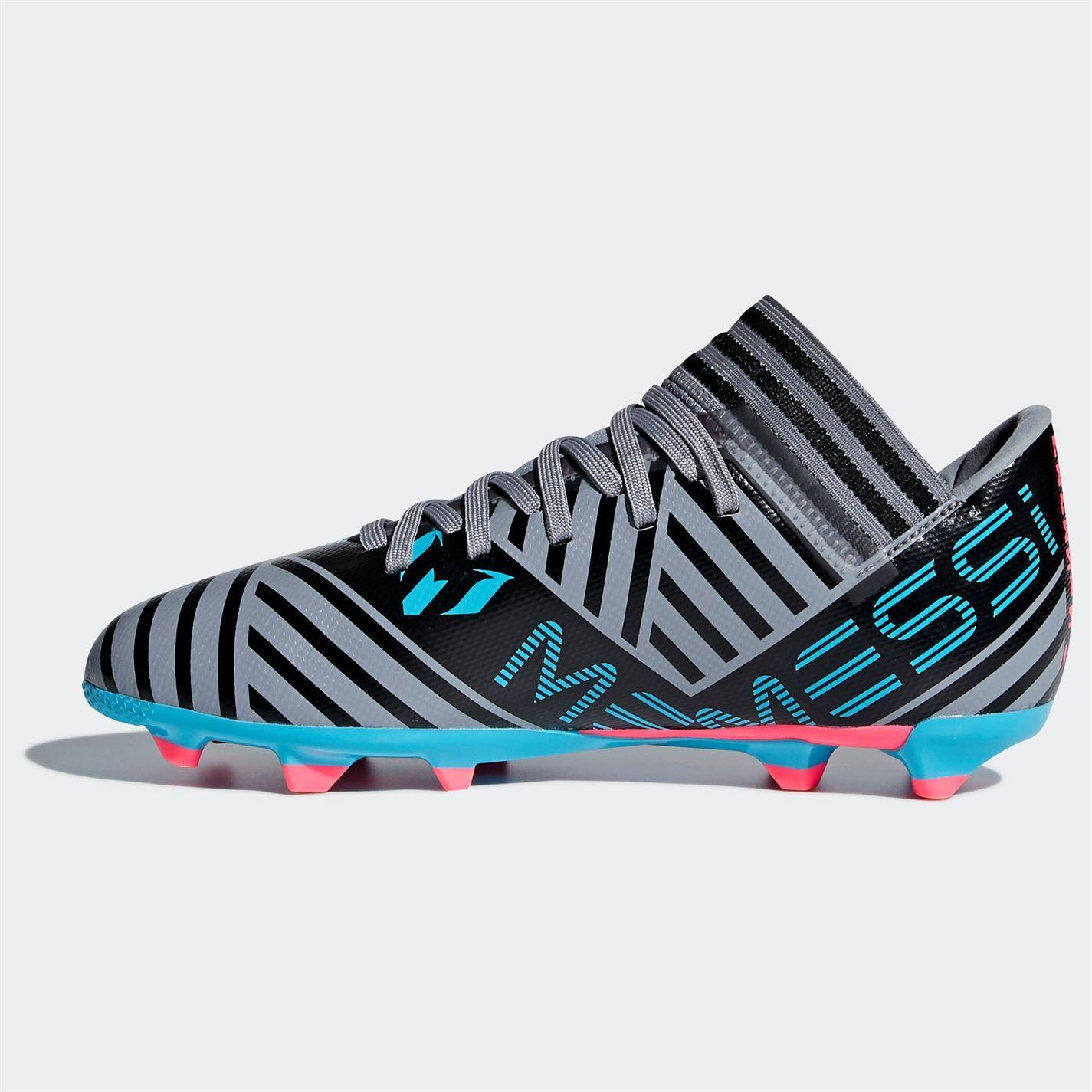 on sale 847bc f2f9f ... adidas Nemeziz Messi 17.3 FG Football Boots Juniors Grey Blk Soccer  Shoes Cleats