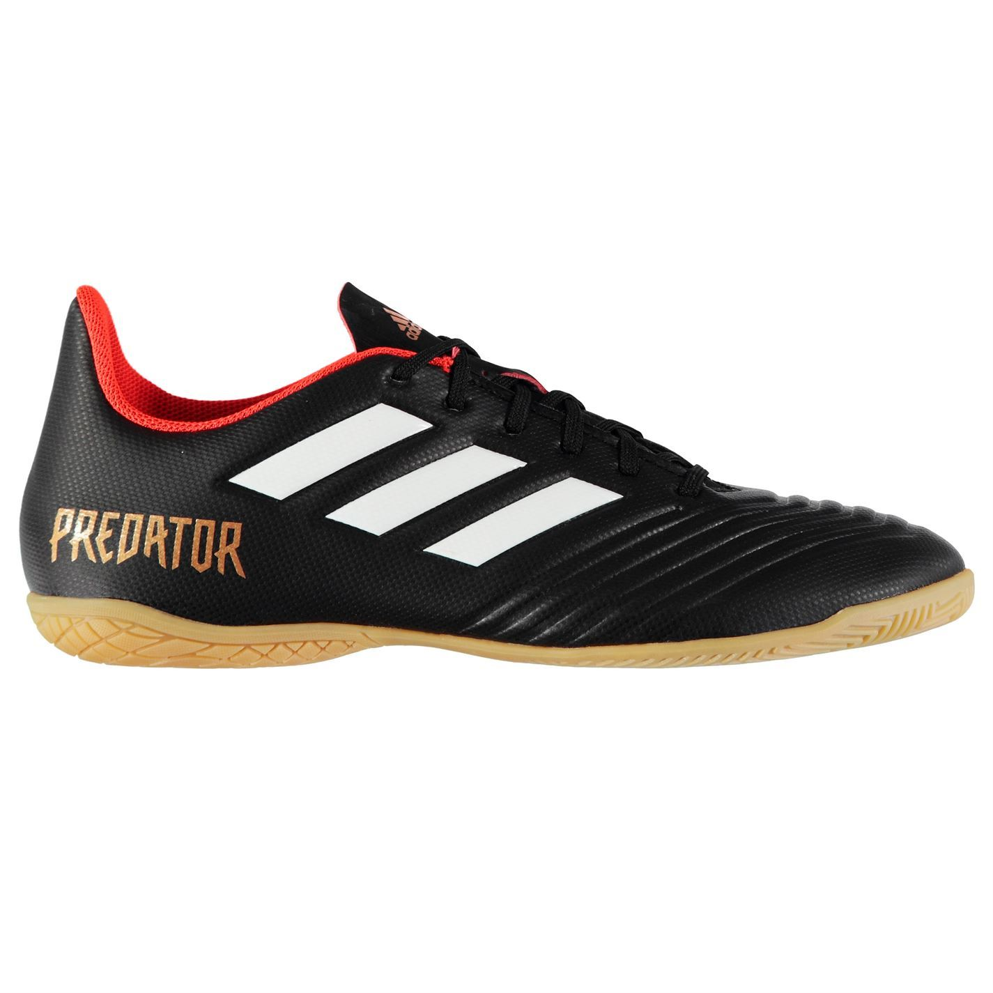 415867b3cb5 Details about adidas Predator Tango 18.4 Indoor Football Trainers Mens  Black Soccer Shoes